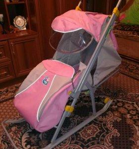 Продам санки-коляска Ника детям