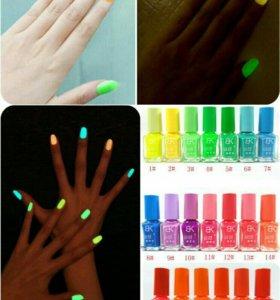 Новый светящийся в темноте лак для ногтей
