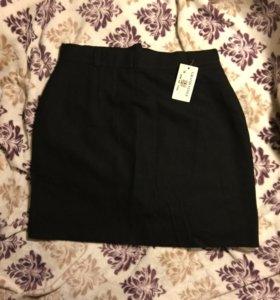 Шерстяная новая юбка