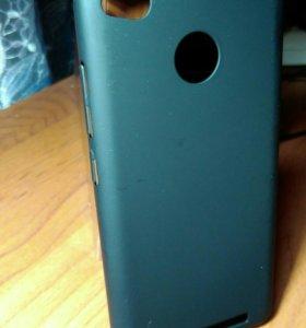Xiaomi Redmi 3 s (накладка- бампер черный матовый)