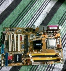 Материнская плата ASUS с процессором