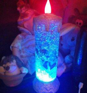 Мега крутая новогодняя свеча на стол