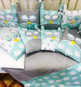 Комплект детского постельного белья 21 пр. НОВЫЙ