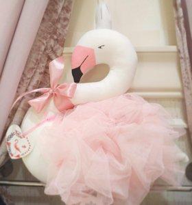 Фламинго в юбке из фатина, мягкая игрушка