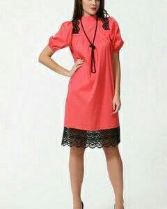 Дизайнерское платье хлопок 100%