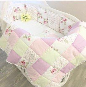 Комплект. Детская кровать. Бортики. Конверт-одеяло