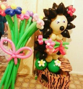 Цветы,букеты,фигуры из шаров