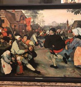 Картина «Сельский танец» Брейгеля 1568