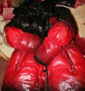 Зимняя Новая куртка пуховик д/девочки 116