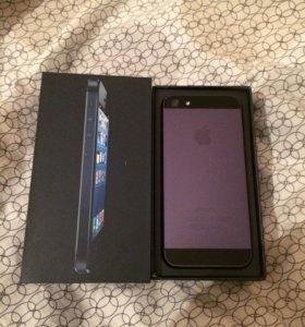 Айфон 5 чёрный 16гб, как новый