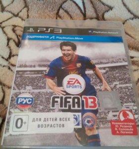 Диск на PS3 FIFA13 с коробкой в хорошем качестве.