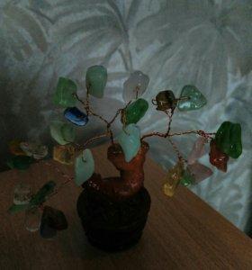 Денежное дерево натуральный камень