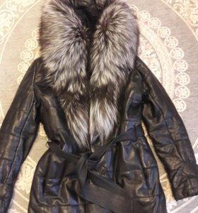 Куртка коженная утепленная