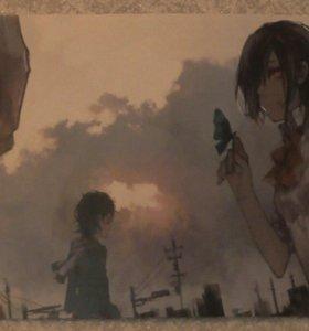 """Плакат. Аниме """"Токийский гуль"""""""