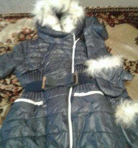 Пальто очень теплое в отличном состоянии с рукавиц