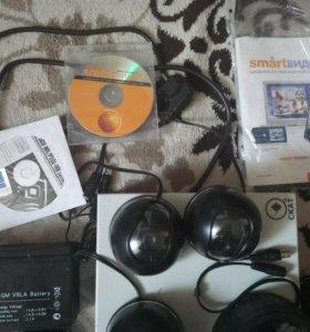 Набор Камер видеонаблюдения(обмен на 2 ip камеры)