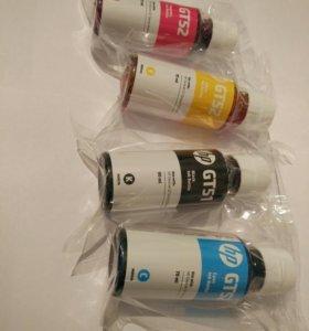 Чернила для принтеров и картриджей HP gt51 и gt52