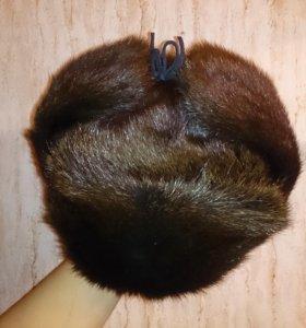 Новая мужская шапка из ондатры