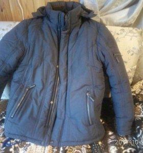 Куртка зимняя,размер 54-56.Цвет темно-синий.