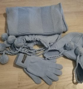 Комплект ( шапка, шарф,перчатки)