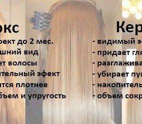 Кератиновое выпрямление. Ботокс для волос.