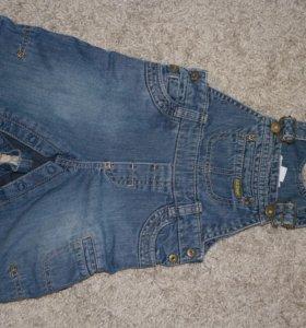 """Детский джинсовый комбинезон «H&M """",размер 68 см."""