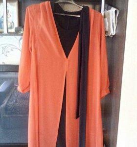 Продам платье, размер 52-54, черное платье- стрейч