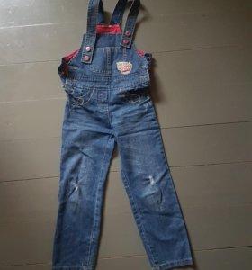 Комбенизон джинсовый для девочки