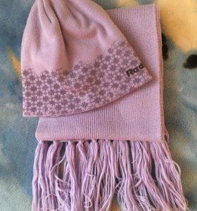 Шапка/шарф женский набор