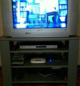 Телевизор+ тумба+ dvd