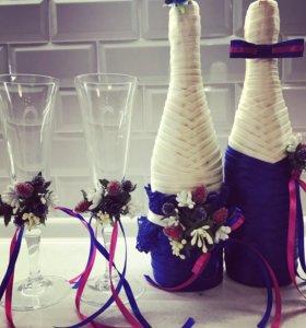 Свадебные праздничные бутылочки 👰🏻🍾💍🎁