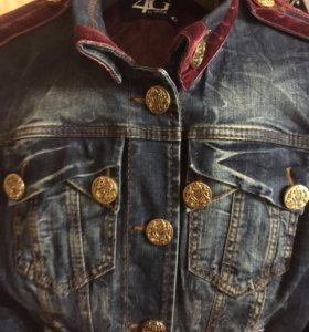 Утепленная джинсовая куртка Gizia