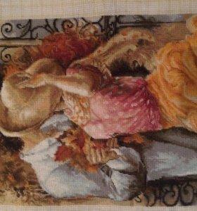 Картина вышитая гобеленом