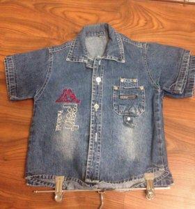 Детские джинсовые рубашки