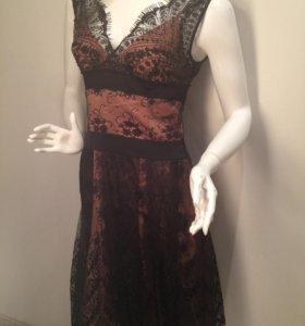 Натуральный шёлк, кружево, вечернее платье италия