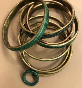 Новые браслеты + кольцо новые