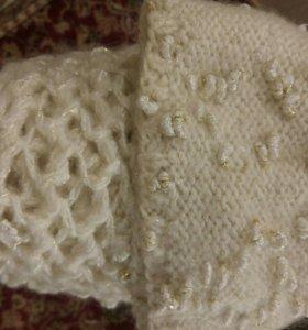Шапка женская и шарф