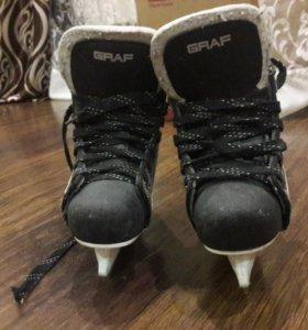 Хоккейные коньки Graf 28 размера.