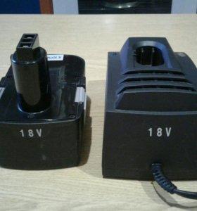 Зарядное устройство + аккумулятор 18 в