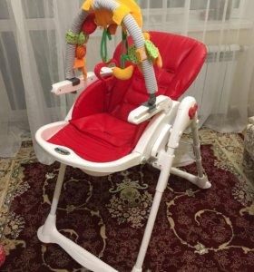 Детский стул шезлонг для кормления Brevi b. fun