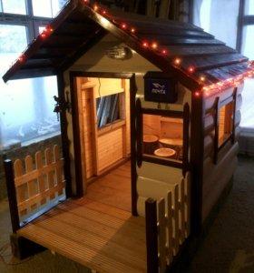 Детский домик для дачи для детей 3-12 лет, большой