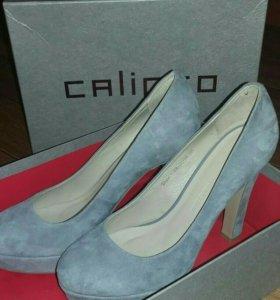 Туфли новые Calipso 38 размер натуральная кожа