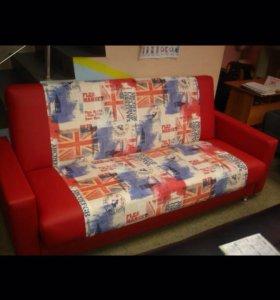 Диван Кровать Книжка красный комби Лондон