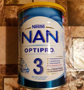 Детская смесь NAN 3 OPTIPRO с 12 месяцев.