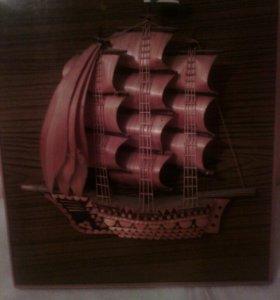 Панно декоративное из дерева