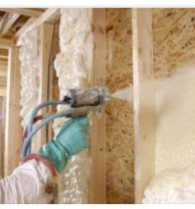 Утепление домов полиуретаном