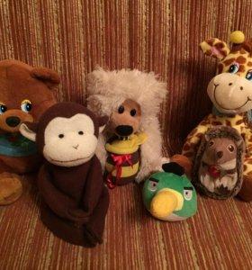 Мягкие игрушки зверюшки
