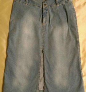 Юбка джинсовая р. 46