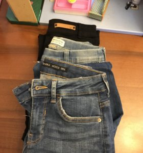 Брюки, джинсы; Zara,Bershka, р.21-24