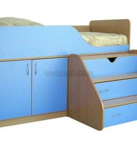 Кроватка с чердачком